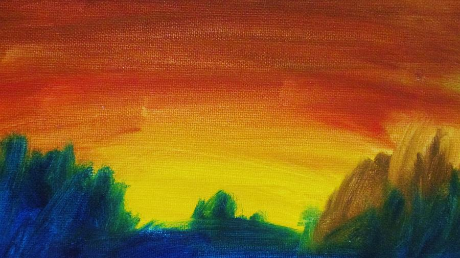 Landscape Painting - Western Sunset by Steve Jorde
