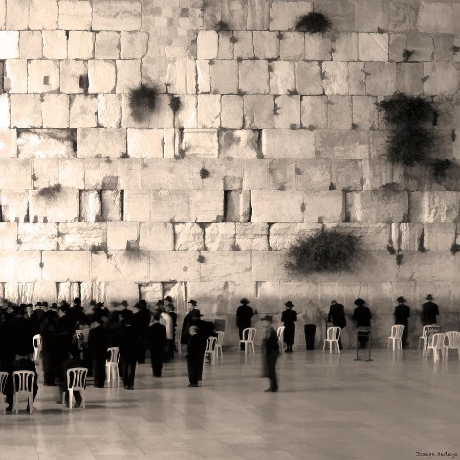 Israel Photograph - Western Wall Photopaint One by Joseph Hedaya