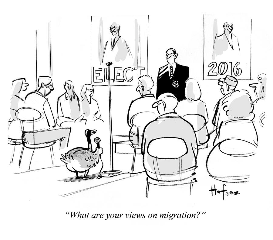 What Are Your Views On Migration 1 Drawing by Kaamran Hafeez