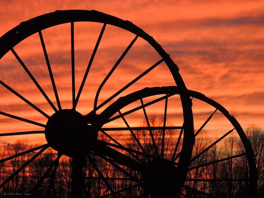 Nature Photograph - Wheel-n-axle Sunset.. by Matt Taylor