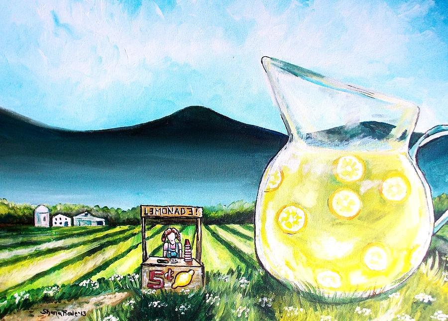 Lemon Painting - When Life Gives You Lemons by Shana Rowe Jackson