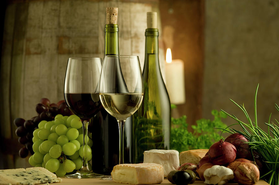 White And Red Wine In A French Style Photograph by Kontrast-fotodesign