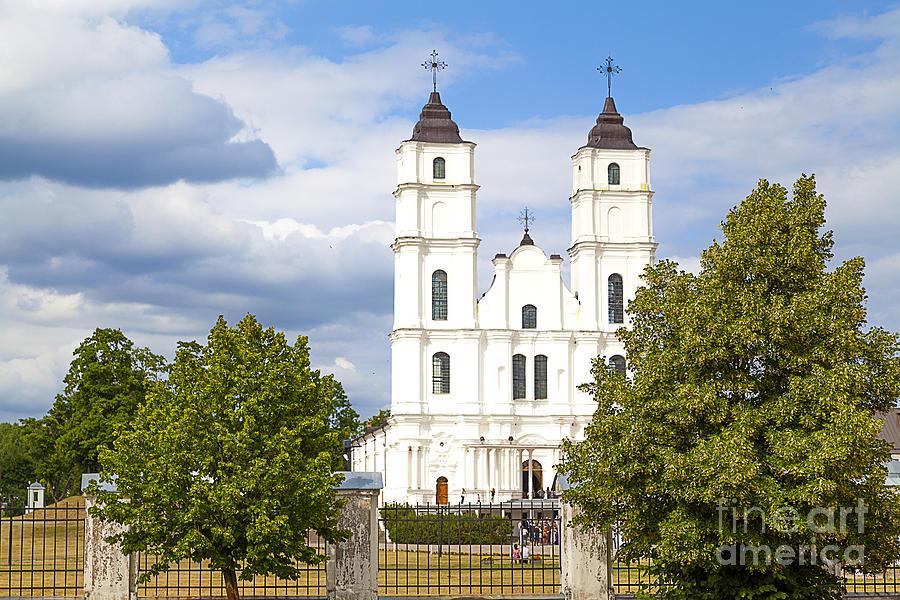 Abbey Photograph - White Church by Regina Koch
