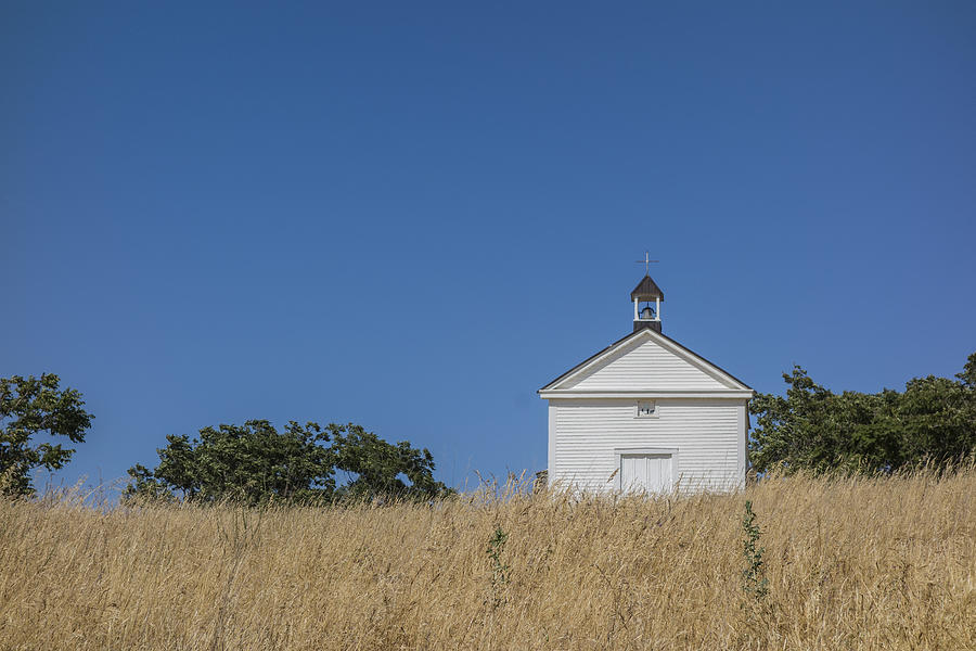 California Photograph - White Country Church by David Litschel