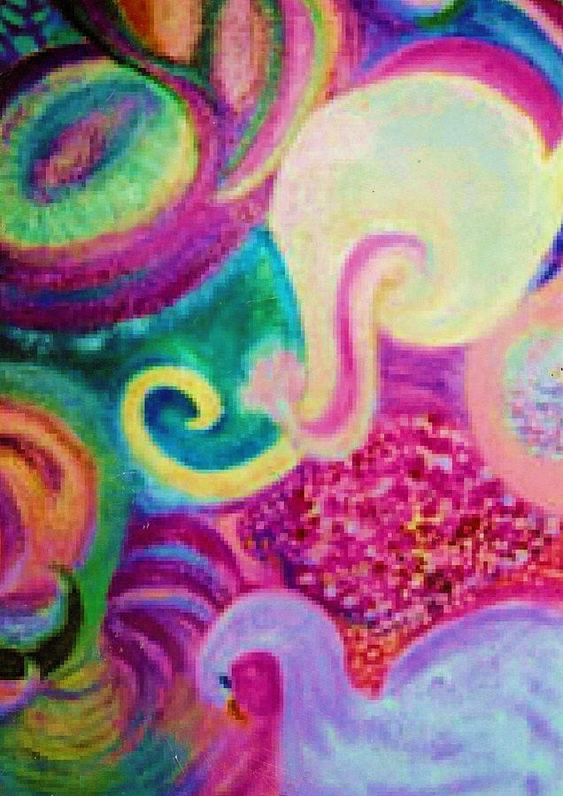 Fantasy Mixed Media - White Elephant Dreams by Anne-Elizabeth Whiteway