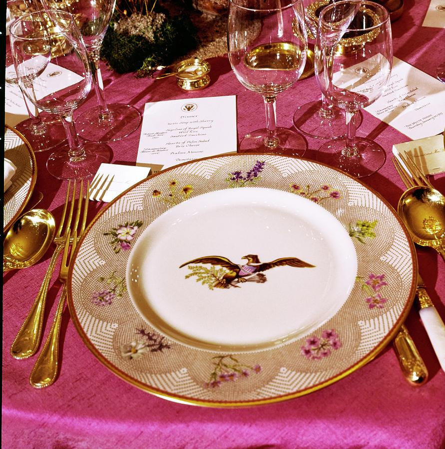 White House Place Setting Photograph by Horst P. Horst