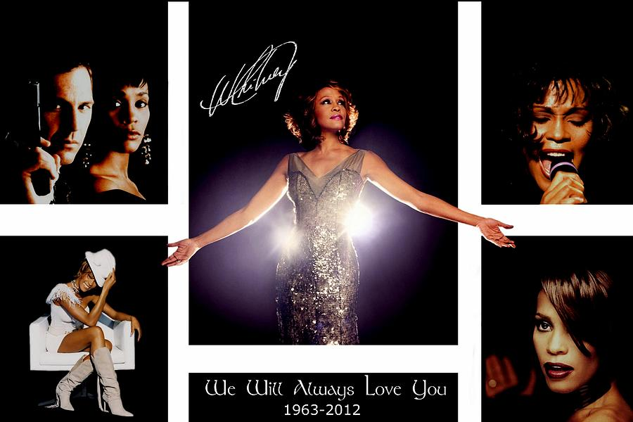 Tribute Mixed Media - Whitney Houston Tribute by Amanda Struz