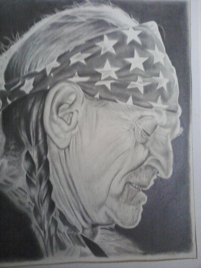 Portrait Drawing - Willie by Dean Nosinner