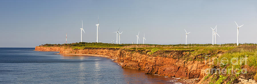 Windmills Photograph - Wind Turbines On Atlantic Coast by Elena Elisseeva