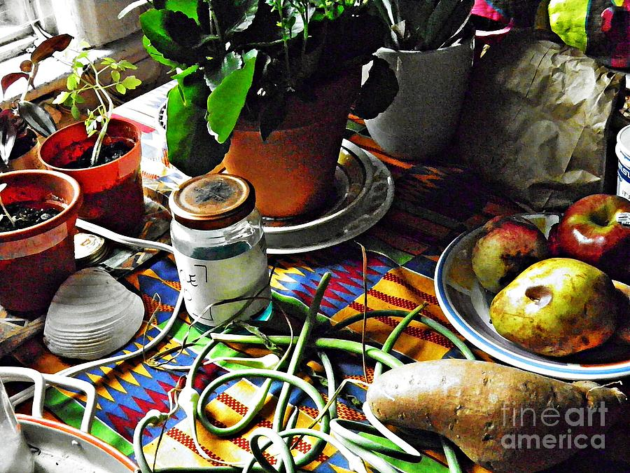 Yam Photograph - Window Table In Harlem by Sarah Loft