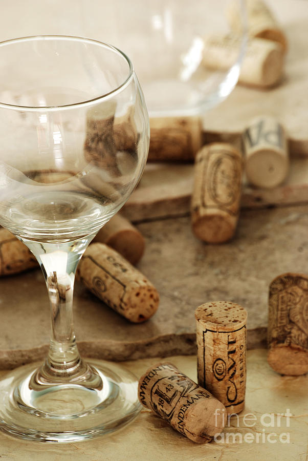 Wine Photograph - Wine Glass And Corks by HD Connelly