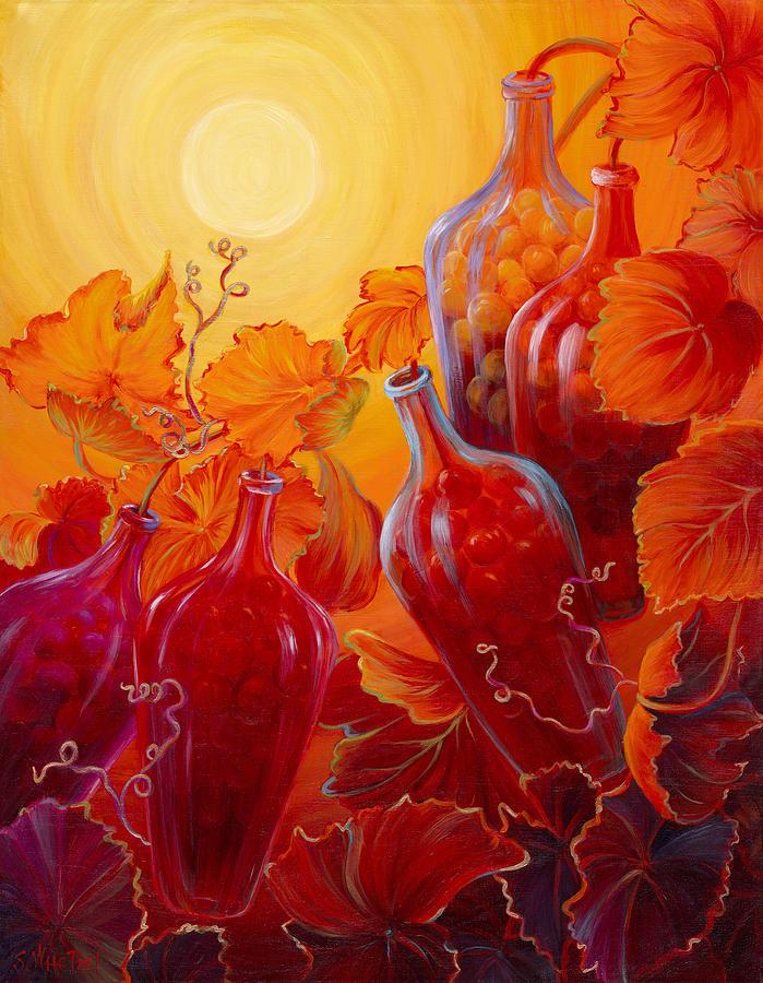 Wine On The Vine Painting - Wine on the Vine II by Sandi Whetzel