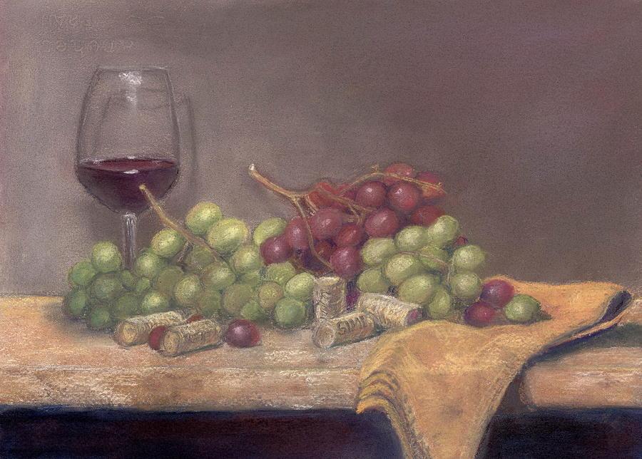 Wine Painting - Wine Tasting by Ellen Minter
