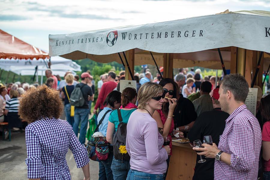 Vine Photograph - Wine Tour In Uhlbach Near Stuttgart - Germany by Frank Gaertner