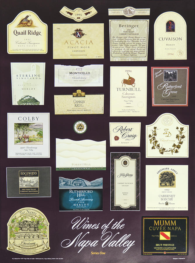Poster Photograph - Wines Of The Napa Valley - Series 1 by J Michael Orr