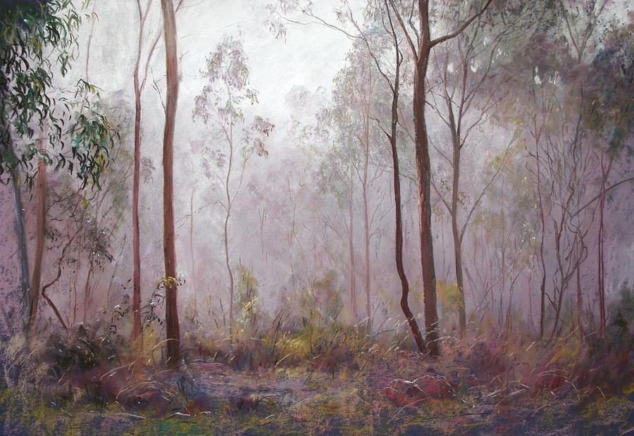 Lynda Robinson Painting - Winter At Wickham by Lynda Robinson