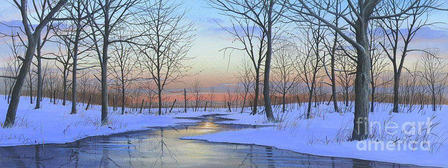 Winter Painting - Winter Calm by Mike Brown