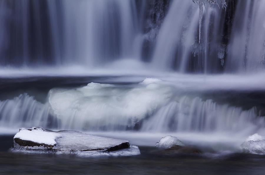 Waterfall Photograph - Winter Fall by Melissa Petrey
