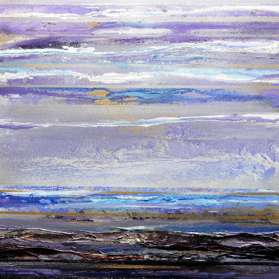 Seascape Mixed Media - Winter Light Hauxley Haven by Mike   Bell