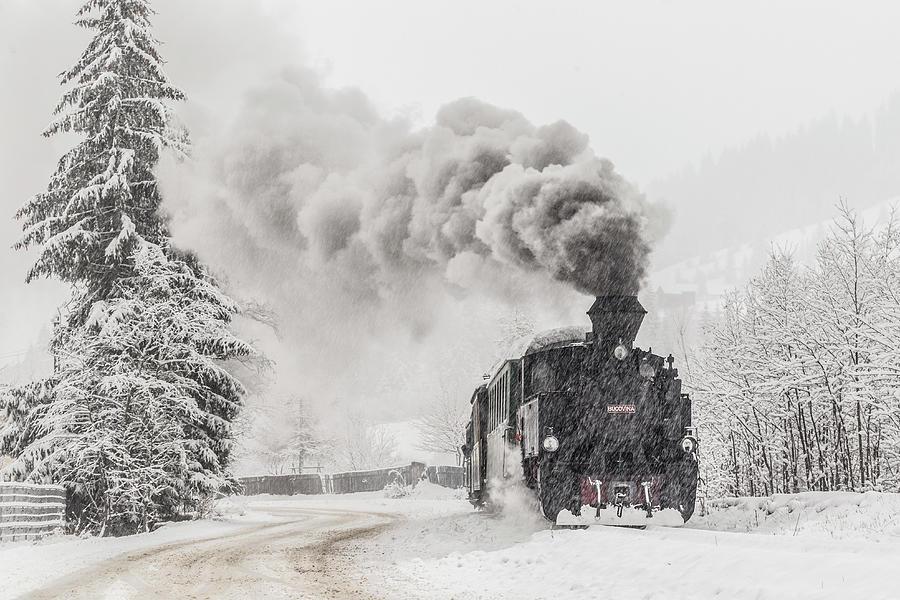 Train Photograph - Winter Story by Sveduneac Dorin Lucian