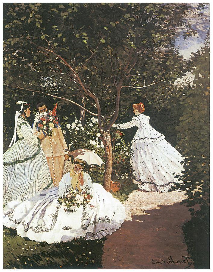 Exceptional Women In The Garden Painting   Women In The Garden By Claude Monet Great Ideas