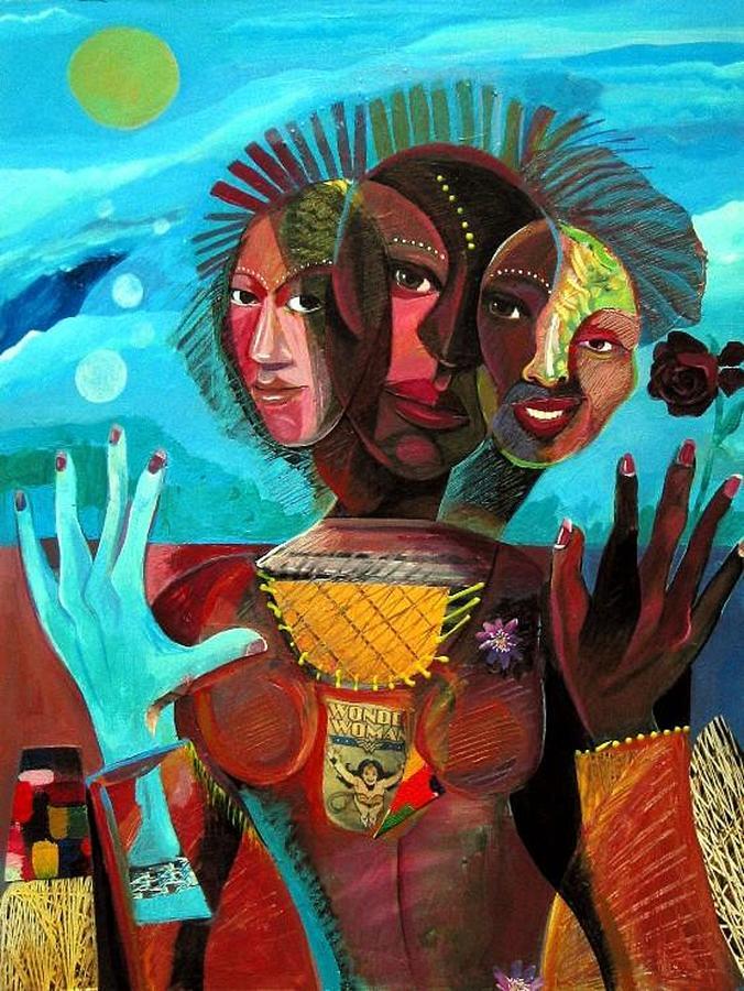 Women Painting - Wonder Woman by Joyce Owens