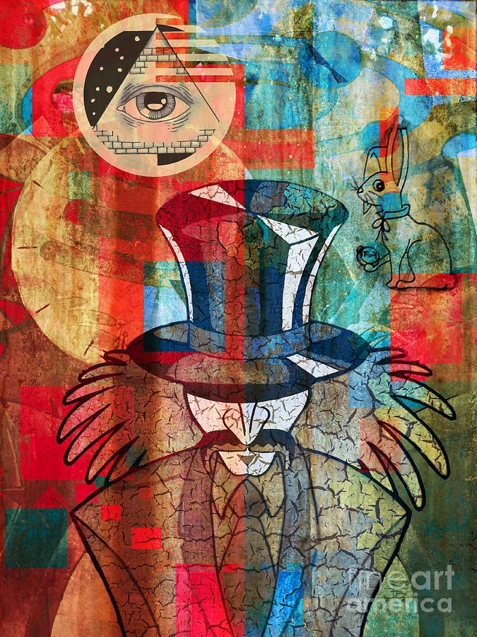 Mad Hatter Digital Art - Wonderland by Robert Ball