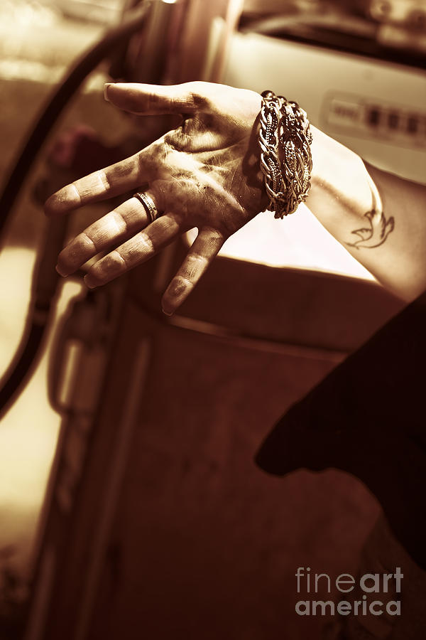 Automotive Photograph - Working Hands by Jorgo Photography - Wall Art Gallery