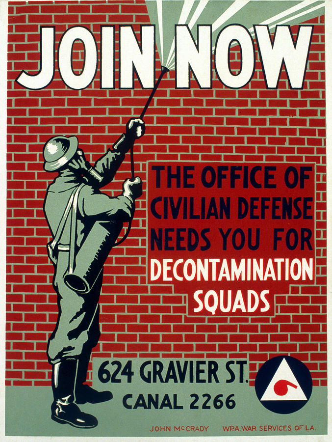 1943 Photograph - World War II Poster, C1943 by Granger