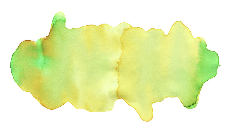 Yellow Green Watercolor Paint Texture Digital Art by 4khz