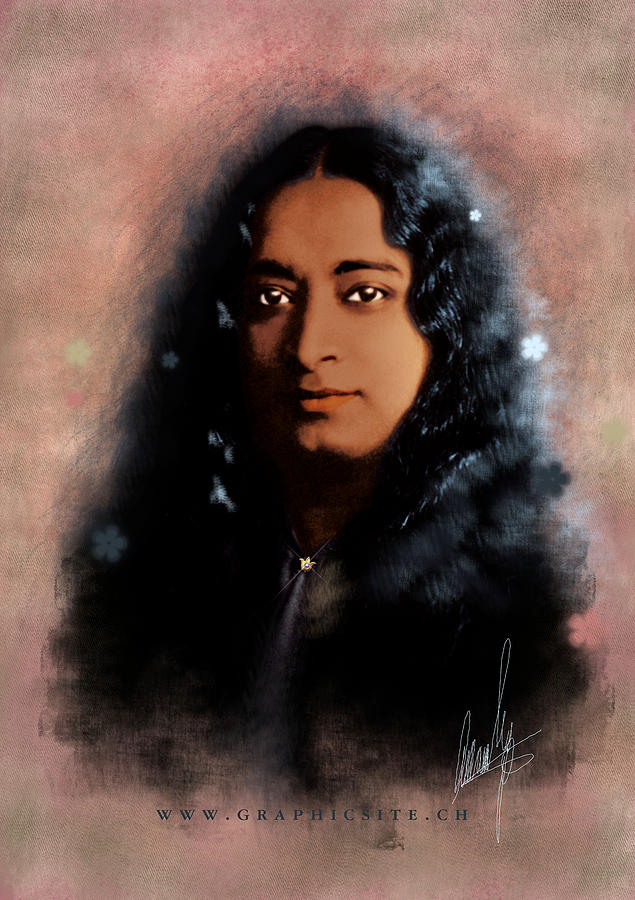 Paramahansa Digital Art - Yogananda by Graphicsite Luzern