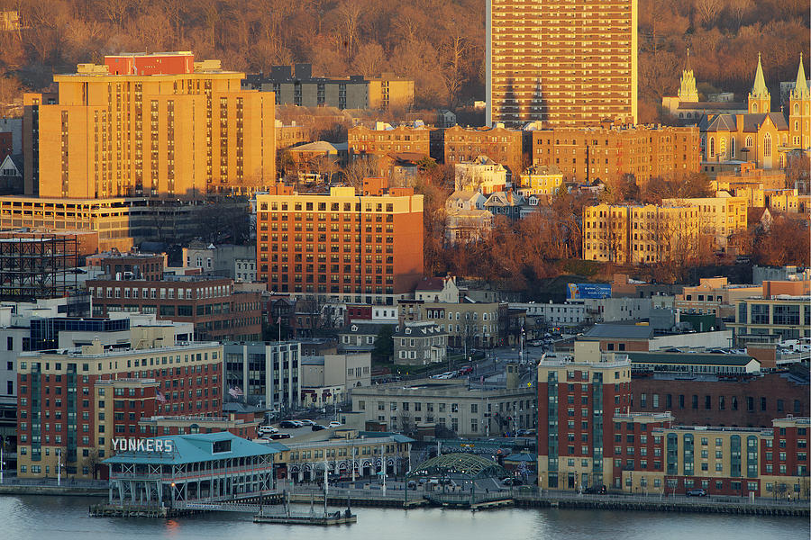 Yonkers, New York - Waterfront, downtown Skyline Photograph by Tony Shi Photography