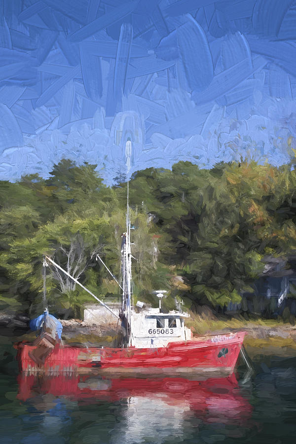 Fishing Photograph - York Harbor Maine Painterly Effect by Carol Leigh