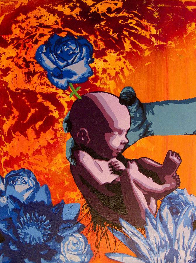 Baby Painting - You Picked A Good One by Bobby Zeik