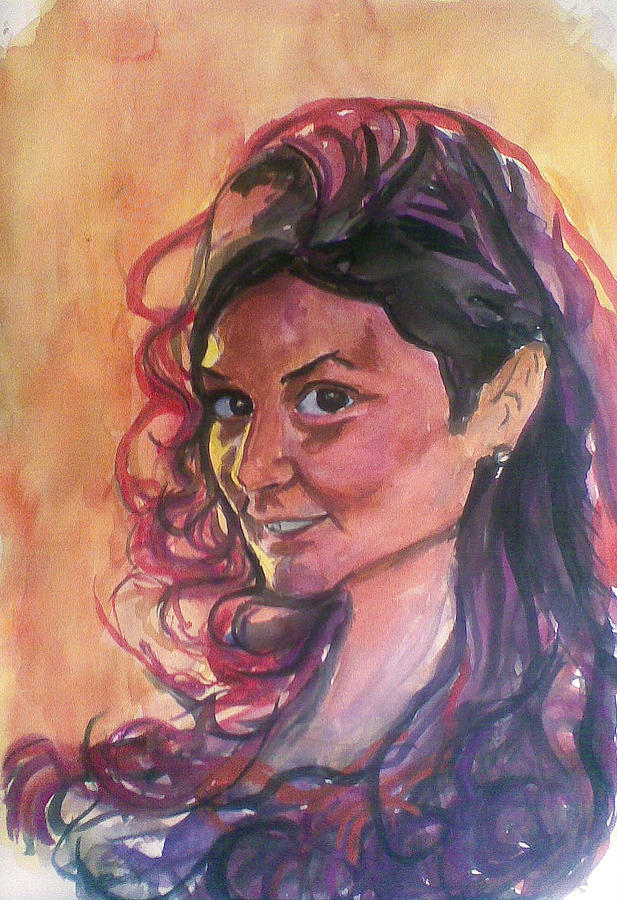 Young Girl Pastel by Vaidos Mihai