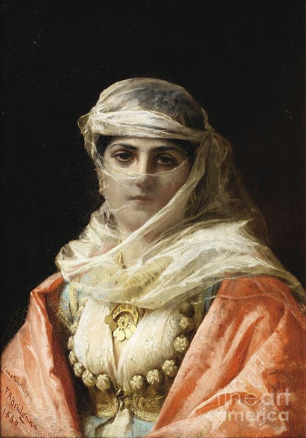 Young Woman From Constantinople Painting By Celestial Images