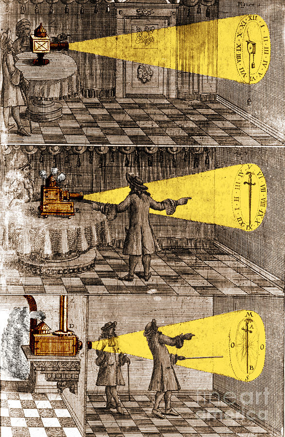 Science Photograph - Zahn Light Projection Apparatus 1685 by Science Source