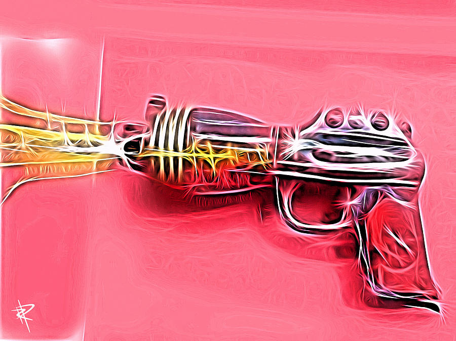 Ray Gun Mixed Media - ZAP by Russell Pierce