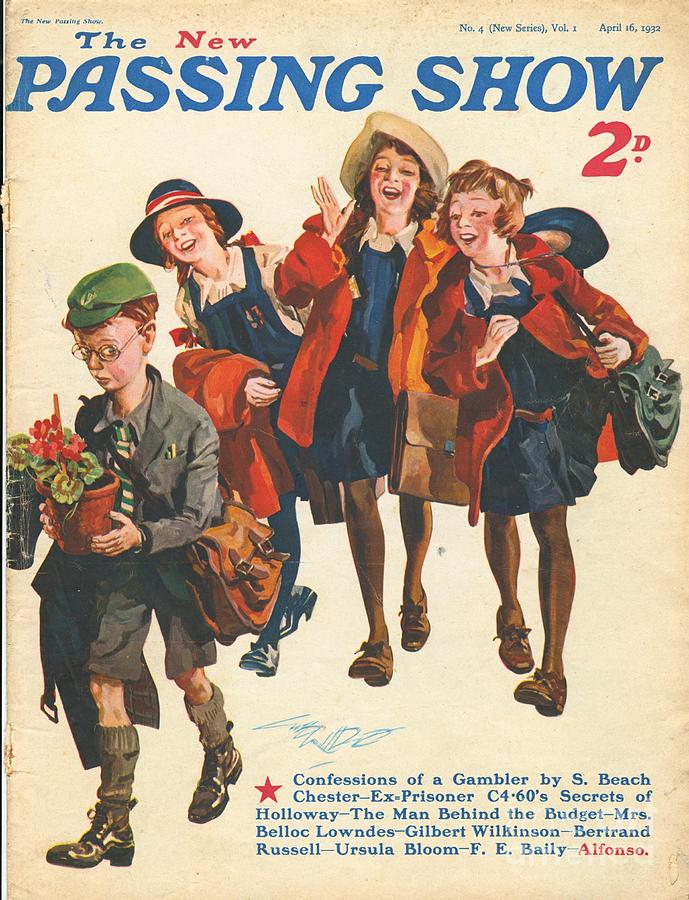 Schools Drawing - 1930s,uk,the Passing Show,magazine Cover by The Advertising Archives