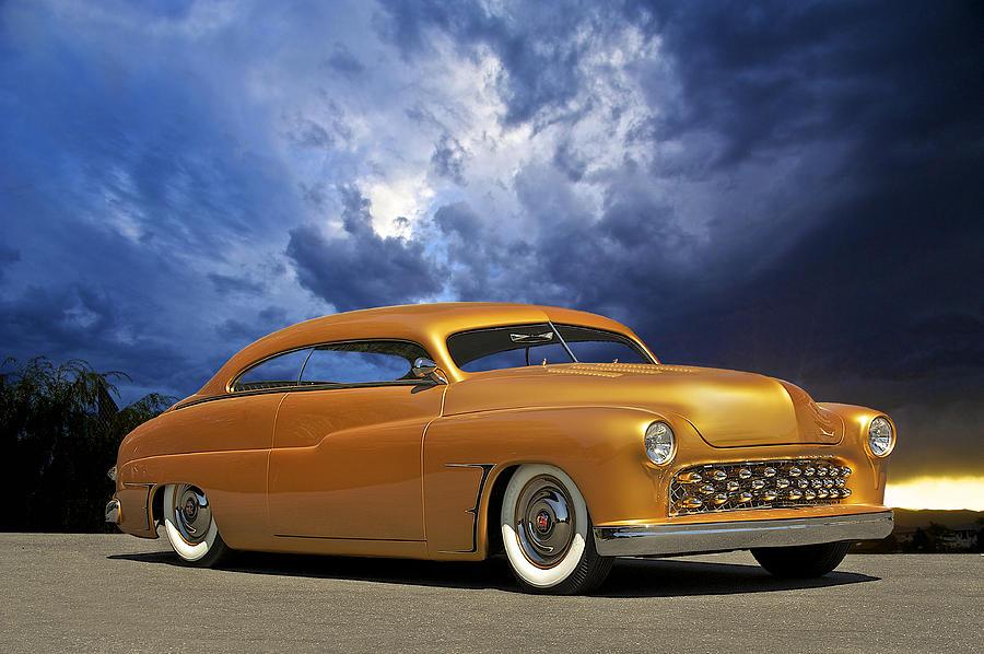 Auto Photograph - 1950 Mercury Custom by Dave Koontz