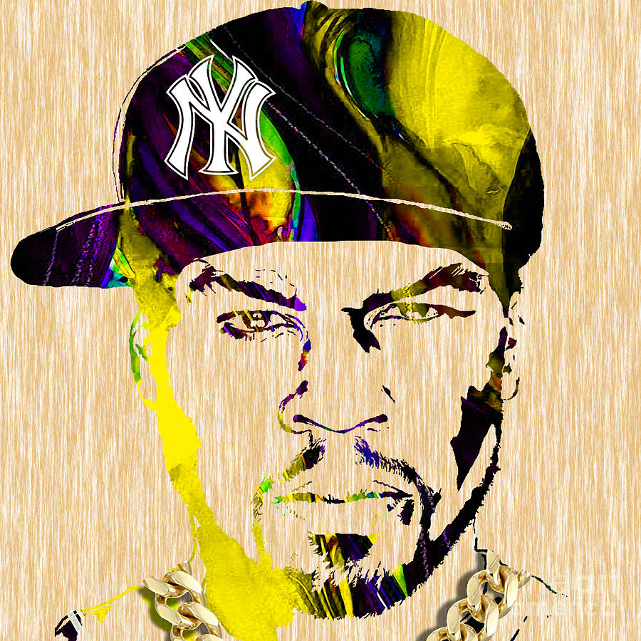 Rap Mixed Media - 50 Cent Collection by Marvin Blaine