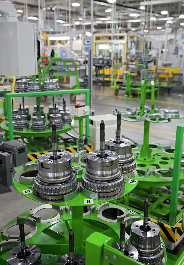 Equipment Photograph - Car Transmission Assembly Line by Jim West