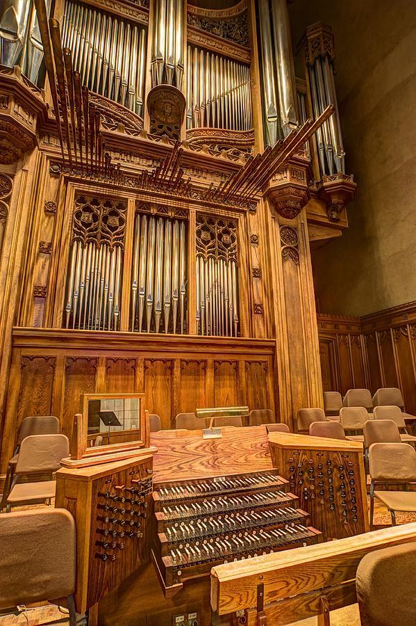 Organ Photograph - Hennepin Avenue Methodist Church by Amanda Stadther