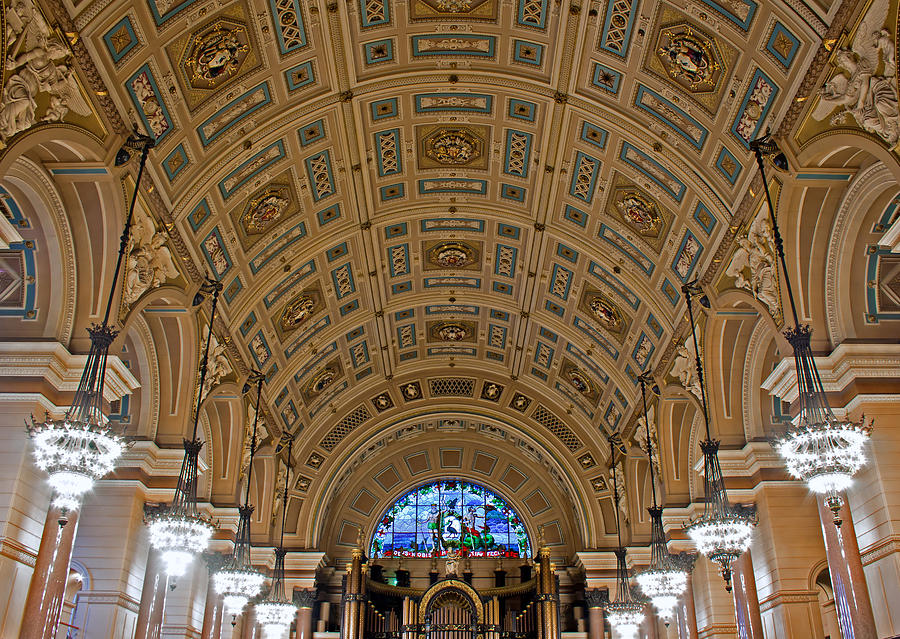 Liverpool Photograph - Interior Of St Georges Hall Liverpool Uk by Ken Biggs