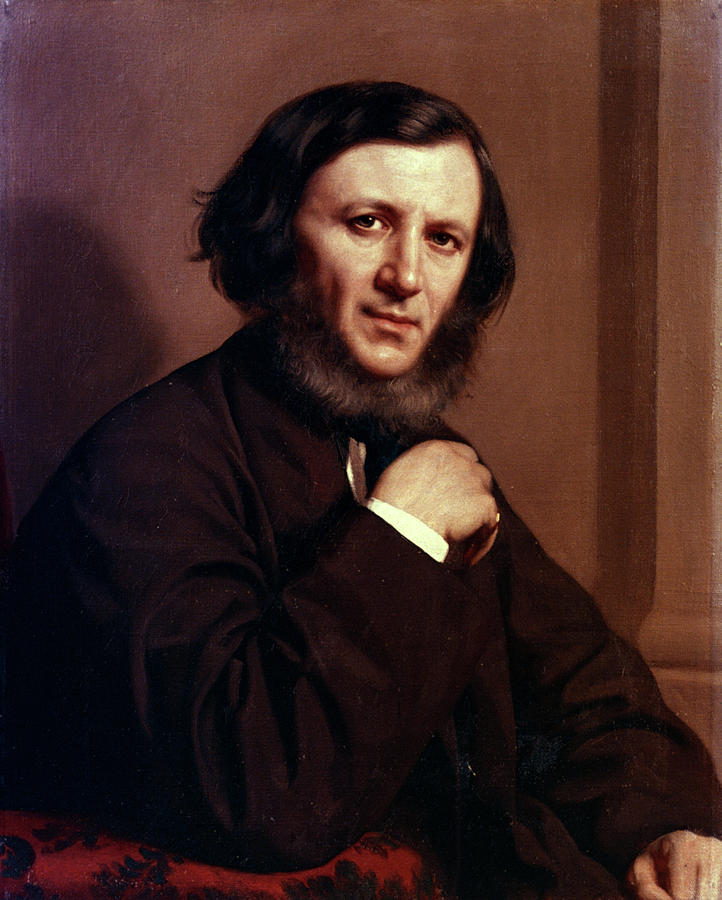 1858 Painting - Robert Browning (1812-1889) by Granger