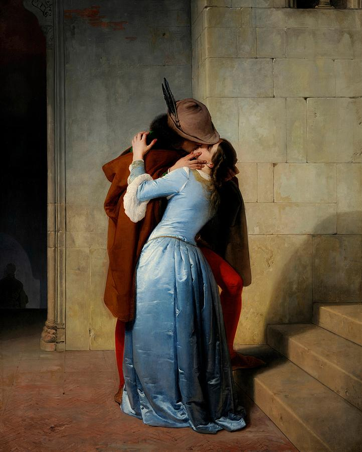 Lovers Painting - The Kiss by Francesco Hayez
