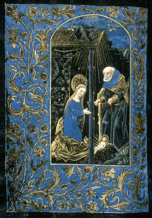 15th Century Painting - The Nativity by Granger