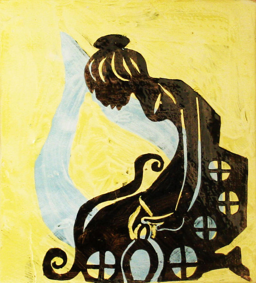 Jesus Painting - The Wise Virgin by Gloria Ssali