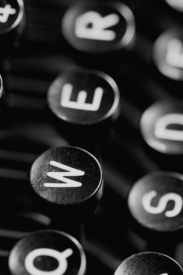 Taste Photograph - Typewriter Keys by Falko Follert