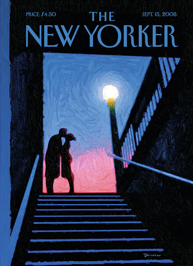 New Yorker Moment Painting by Eric Drooker